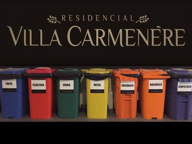 Villa Carmenère o primeiro empreendimento a adotar a coleta seletiva de resíduos