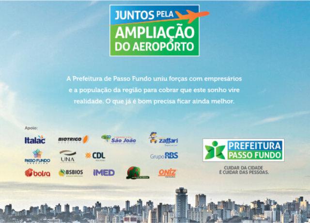 Juntos pela ampliação do aeroporto e desenvolvimento da nossa cidade
