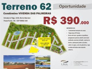 Terreno 62 – Condômino VIVENDA DAS PALMEIRAS