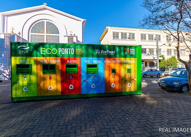 Primeiro Ecoponto UNA/EcoSmart (Estação de Coleta Seletiva)