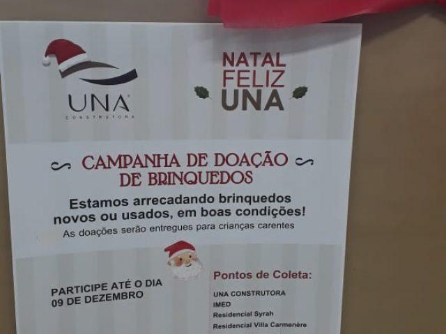 UNA e IMED promovem campanha de arrecadação de brinquedos