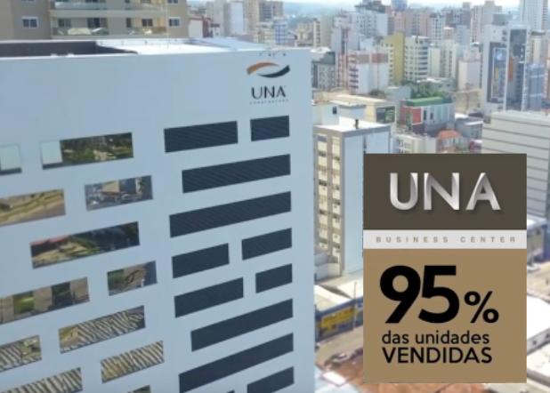 UNA BUSINESS CENTER – 95% das Unidades VENDIDAS